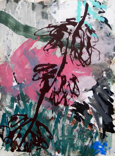 """""""Sans titre"""", 130x100cm, acrylique sur toile, 2018."""