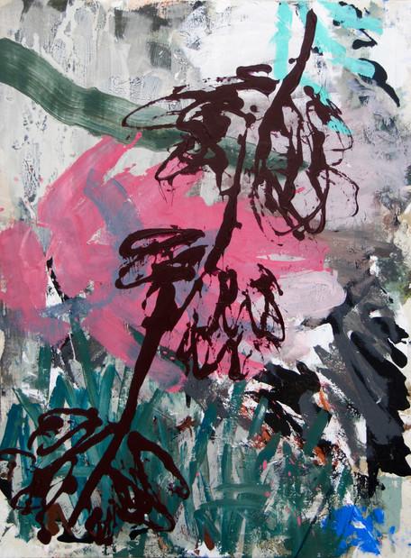 """""""La branche, fond rose"""""""
