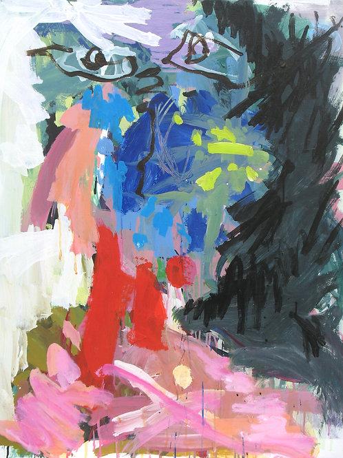"""""""Tête"""", 100x81cm, acrylique sur toile, 2009."""