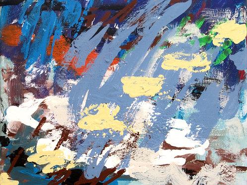 """""""J'ai dû rêver de Monet..."""", 30x40 cm, acrylique sur toile, 2017."""