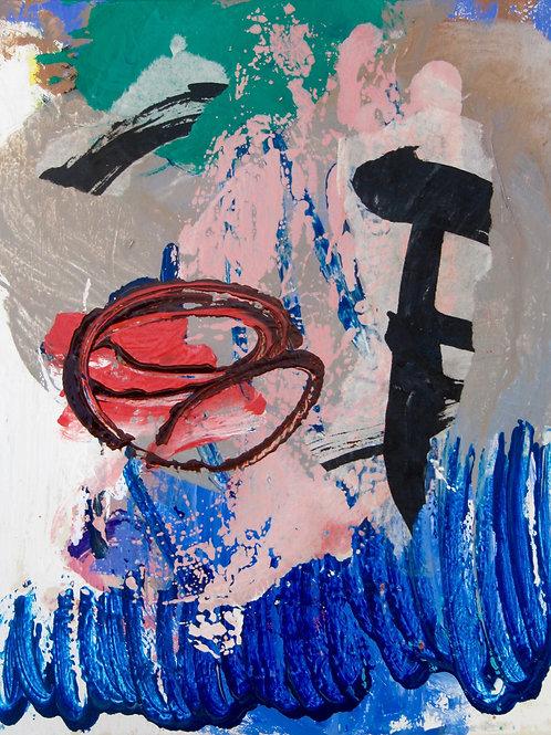 """""""Pasticci"""", 30x24cm, acrylique sur toile, 2017."""