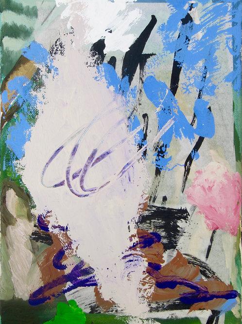 """""""Pasticci"""", 32x24cm, technique mixte sur toile, 2017."""