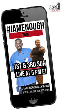 I Am Enough Talk Show Cellphone flyer wi