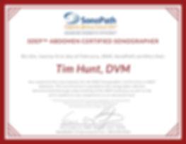 Tim Hunt - Abdomen Certified Sonographer
