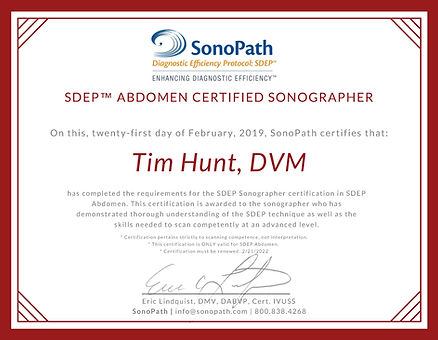 Tim Hunt - Abdomen Certified Sonographer