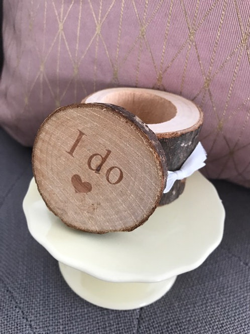"Ring Box aus Holz ""I Do"""