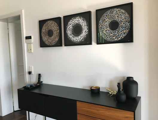 Collage im Raum