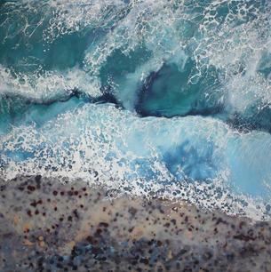Wave 3, encaustic, 50x50 cm