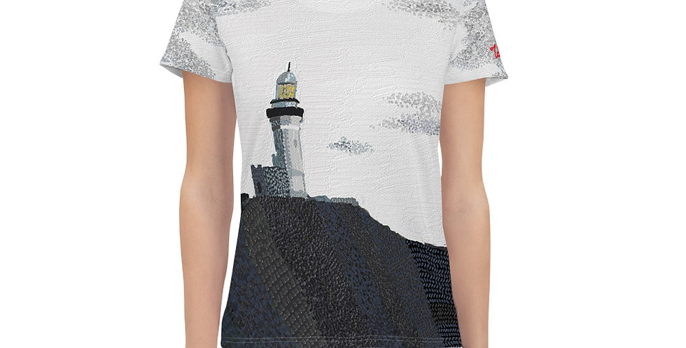 Byron Bay Lighthouse All-Over Print Women's Sports T-shirt