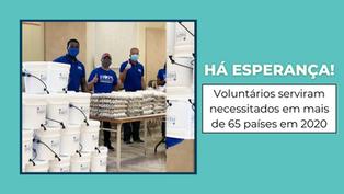 Há esperança em tempos difíceis: voluntários de Hope Worldwide serviram em mais de 65 países em 2020