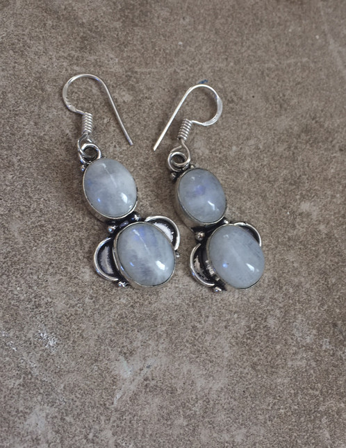 moonstone products moon earrings square in sterling sm silver stone