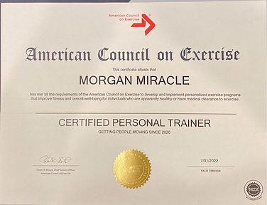 Personal Trainer Cert