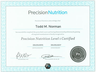 Certified Nutrition Coach