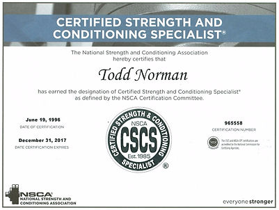 Certified Strength and Conditioning Specialist