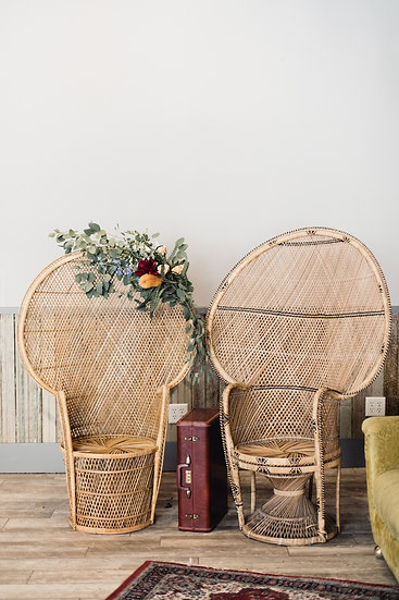 Peter + Phoebe Peacock Chairs