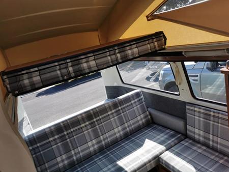 VW Baywindow Westfalia Full Width bed up