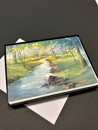 "Box of 10 Cards  - ""Courtney Creek Treasures""  by Beth Verheyden"