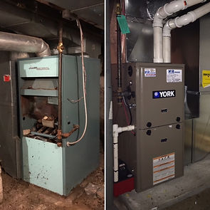Furnace replacement before and after