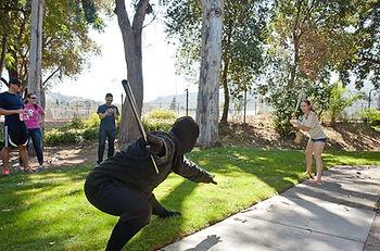 Fighting ninjas as a team