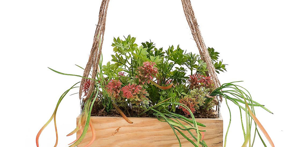 Wooden Rect Planter