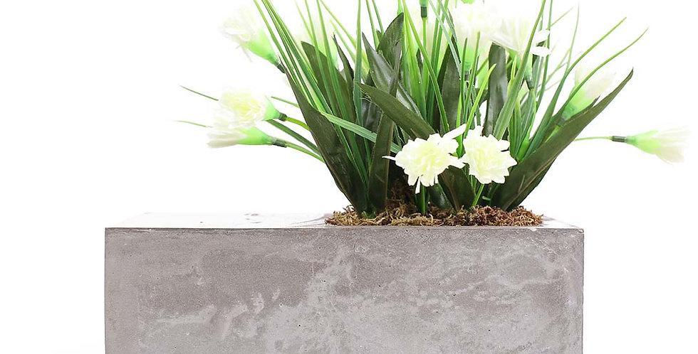 Square Filled Rectangle Planter