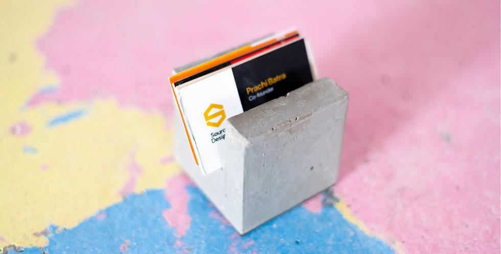 Concrete Cube Card Holder