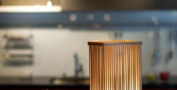 Wooden Jailhood Lamp