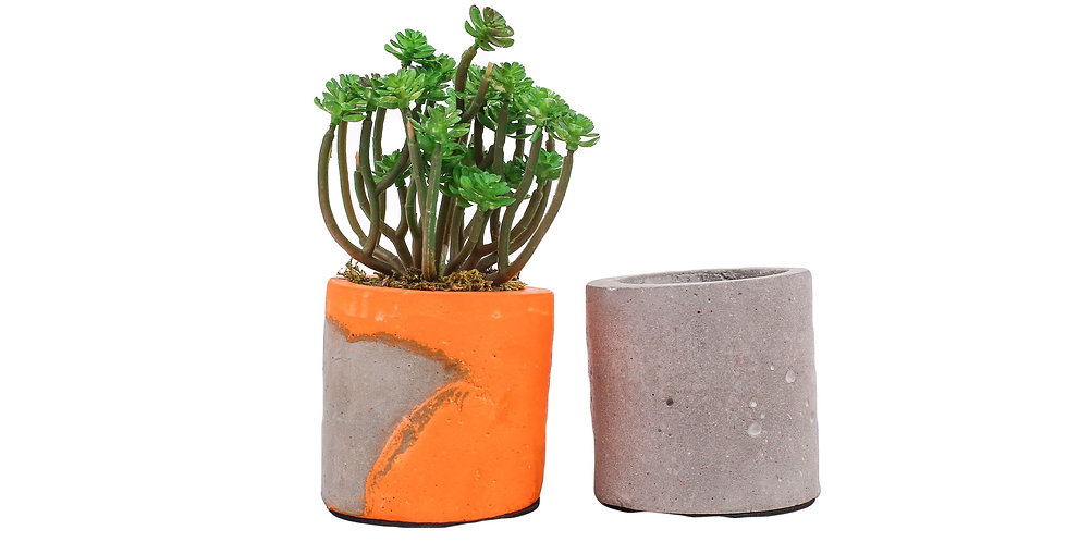 Small Cylindrical Planter