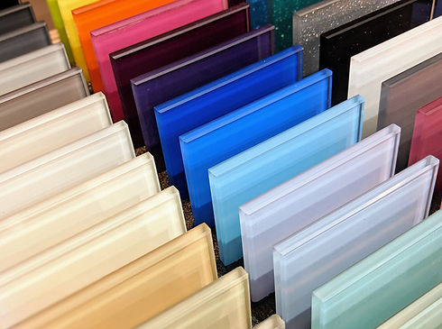 Colourful Glass Samples - Kitchen Splash