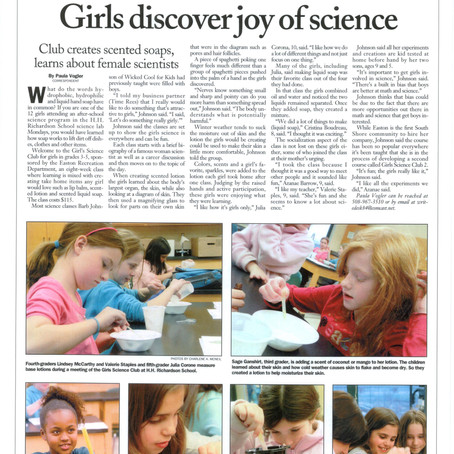Easton girls discover the joy of science