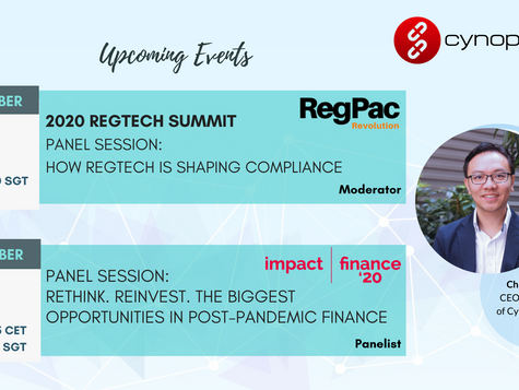 Exciting Upcoming Events At 2020 RegTech Summit & Impact Finance'20