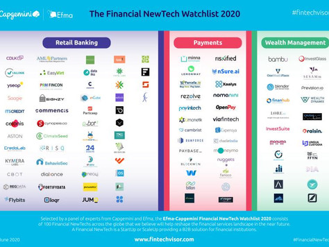Cynopsis Solutions is featured in the 2020 EFMA/Capgemini Financial NewTech Watchlist!
