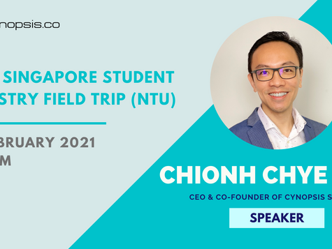 Upcoming Insightful Sharing Session By Chye Kit At NTU