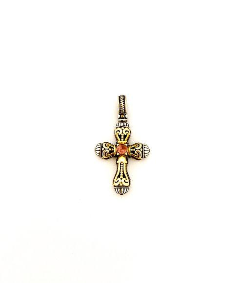 Konstantino Pink Tourmaline Cross Pendant