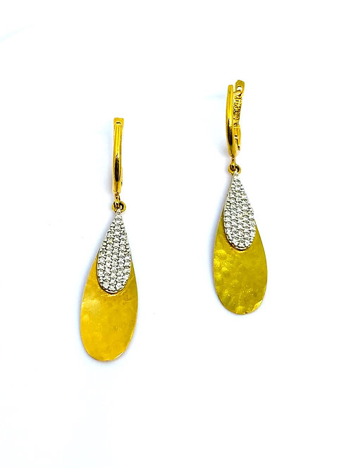 I.Reiss Gold Diamond Earrings