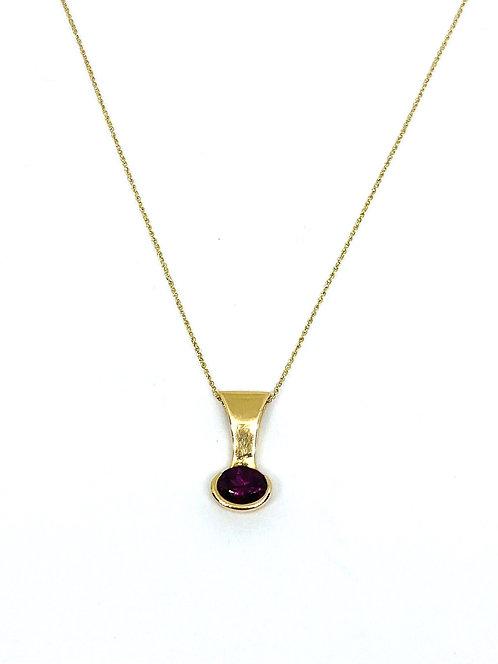 Rhodolite Gold Pendant