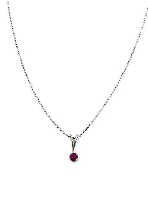 Ruby gold pendant
