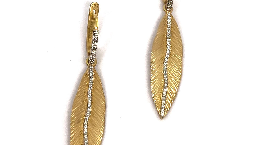 I.Reiss Leaf Diamond Earrings