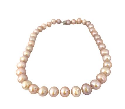 Mauve Pearl Necklace