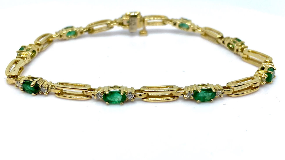 Bravo Jewelers Gold Emerald Bracelet