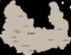 Mapa tipů na jednodenní výlety v okolí Brna