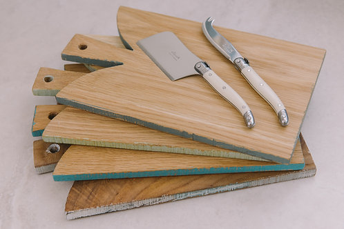 Handcrafted Wooden Chopping Board & Laguiole Knives