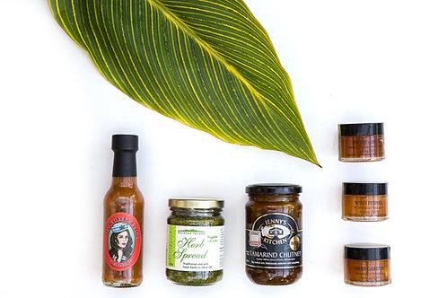 Waiheke Hottie Sauce, Waiheke Herb Spread, Tamarind Chutney, Church Bay Rd Honey