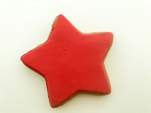 Add a Red Iced Gingerbread Festive Star