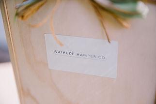 Waiheke Hamper Co wooden gift box