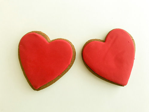 Add Red Hearts Iced Gingerbread