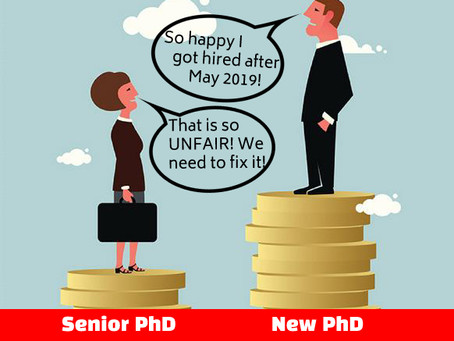 We are deeply disappointed... No salary increases for PhDs hired before 1st of May at UiA