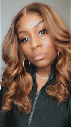 "20"" lace closure wig custom colored #4/27"