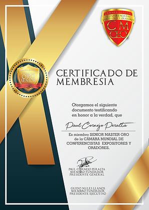 Certificado de acreditación duplicado