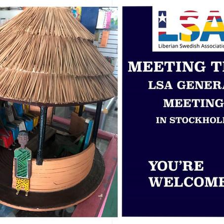 Upcoming LSA General Meeting!
